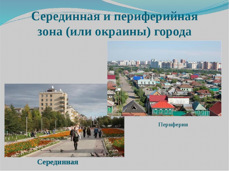 Серединная и периферийная зона (или окраины) города Периферия Серединная