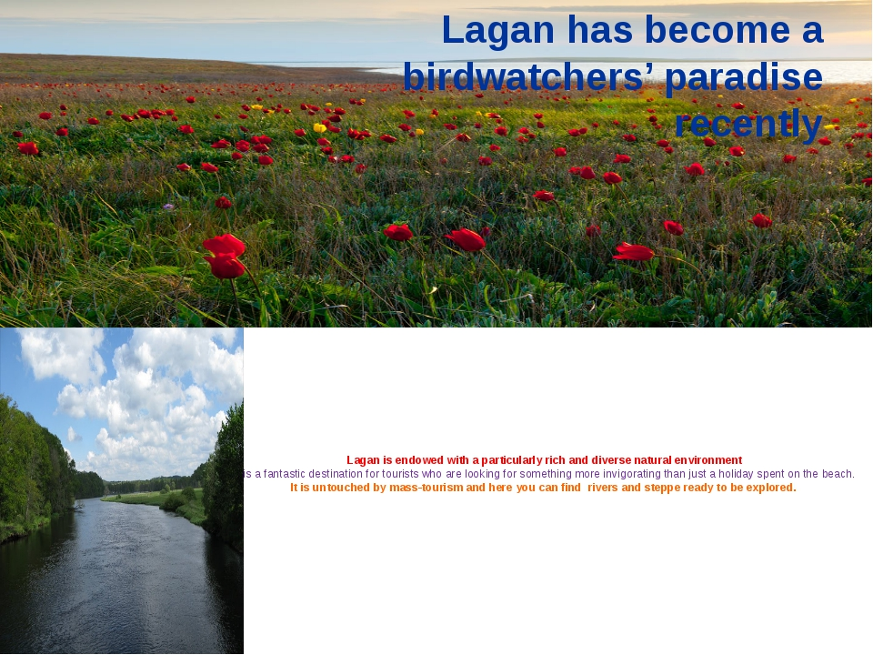 Lagan is endowed with a particularly rich and diverse natural environment It...