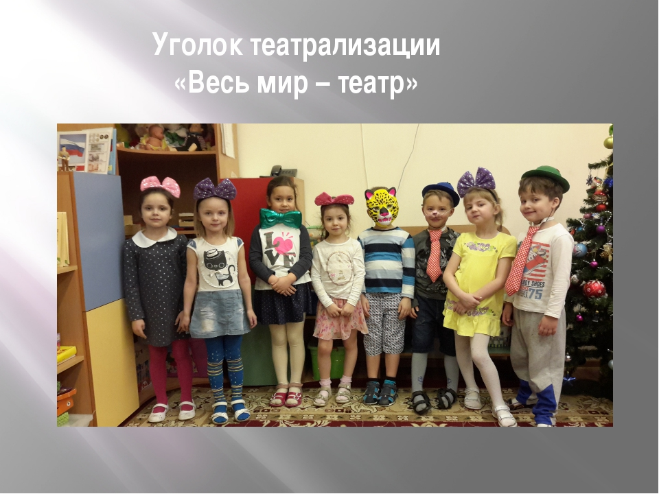 Уголок театрализации «Весь мир – театр»