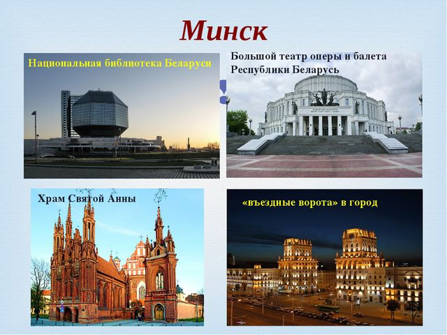 Минск Национальная библиотека Беларуси Большой театр оперы и балета Республик...