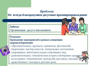 Решение: Проведение мероприятий в рамках концепции здоровьесбережения: - обра