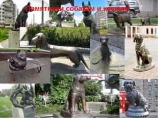 Памятники собакам и кошкам