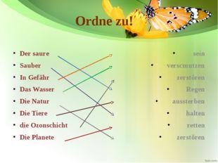 Ordne zu! Der saure Sauber In Gefähr Das Wasser Die Natur Die Tiere die Ozons