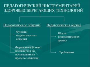 ПЕДАГОГИЧЕСКИЙ ИНСТРУМЕНТАРИЙ ЗДОРОВЬЕСБЕРЕГАЮЩИХ ТЕХНОЛОГИЙ Педагогическое о