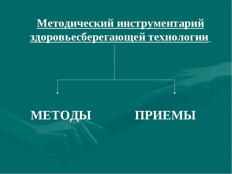 Методический инструментарий здоровьесберегающей технологии МЕТОДЫ ПРИЕМЫ