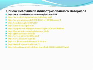 Список источников иллюстрированного материала http://www.zastavki.com/rus/com