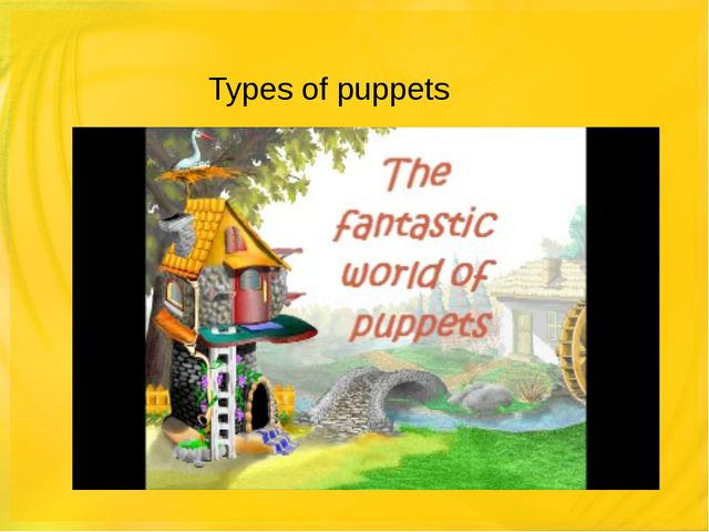 Types of puppets