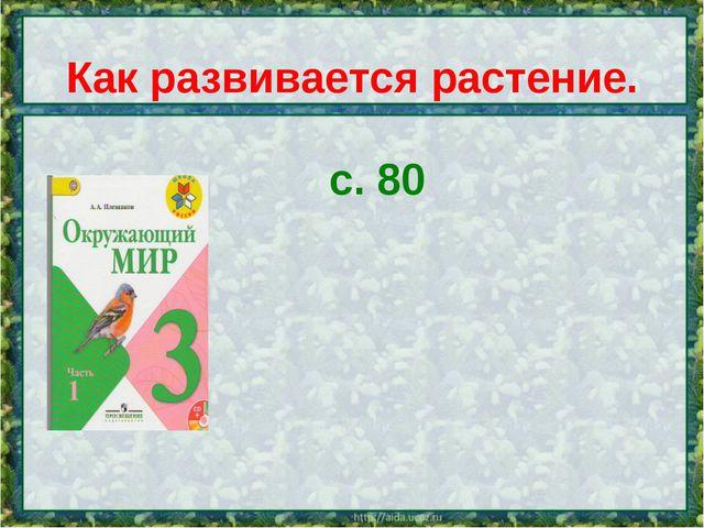 с. 80 Как развивается растение.