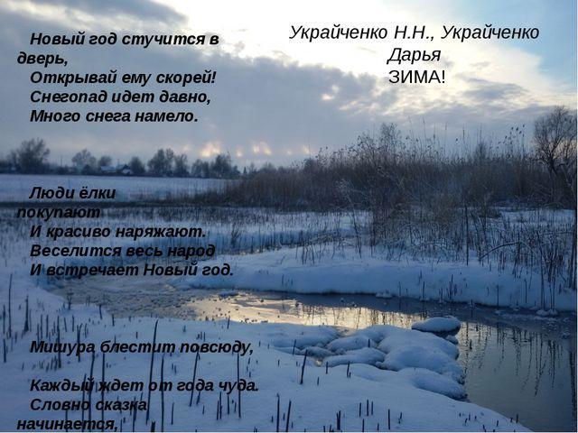 Украйченко Н.Н., Украйченко Дарья ЗИМА! Новый год стучится в дверь,...