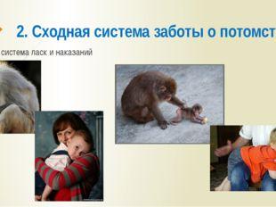 2. Сходная система заботы о потомстве система ласк и наказаний