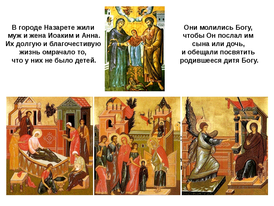 В городе Назарете жили муж и жена Иоаким и Анна. Их долгую и благочестивую жи...