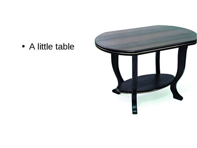 A little table