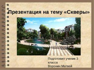 Сквер— это небольшая природная зона, которая расположена в городской черте.