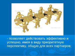 - позволяет действовать эффективно и успешно, имея в виду приоритетную перспе