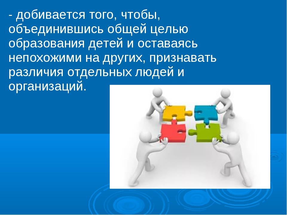 - добивается того, чтобы, объединившись общей целью образования детей и остав...