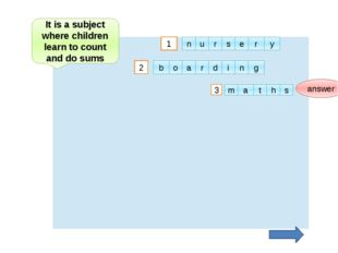 2 1 answer 3 It is a subject where children learn to count and do sums u n r