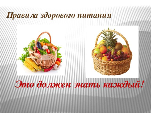 Правила здорового питания Это должен знать каждый!