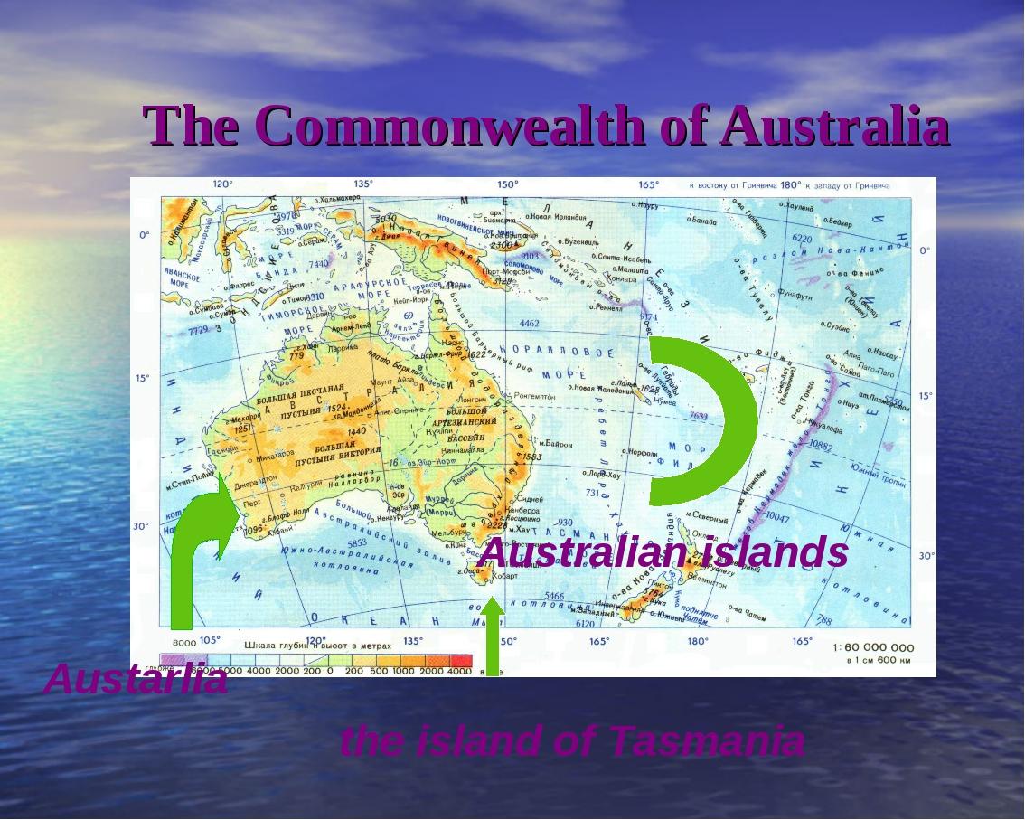 The Commonwealth of Australia Australian islands Austarlia  the isla...