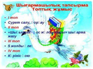 Iтоп Сурет салу, қорғау IIтоп «Шығыстың қос жұлдыздары» шығарма жазу IIIто
