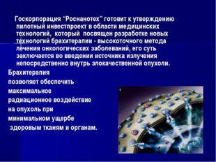 """Госкорпорация """"Роснанотех"""" готовит к утверждению пилотный инвестпроект в обл"""