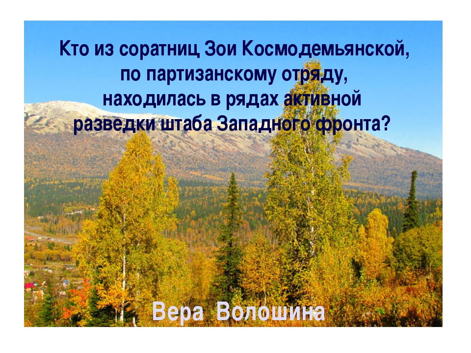 Кто из соратниц Зои Космодемьянской, по партизанскому отряду, находилась в ря...