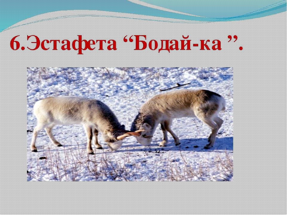 "6.Эстафета ""Бодай-ка "". Попова Наталья Викторовна"