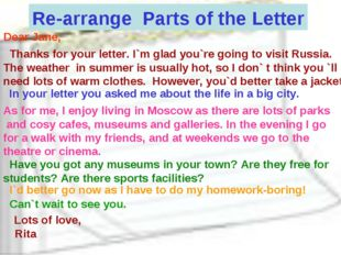 Re-arrange Parts of the Letter