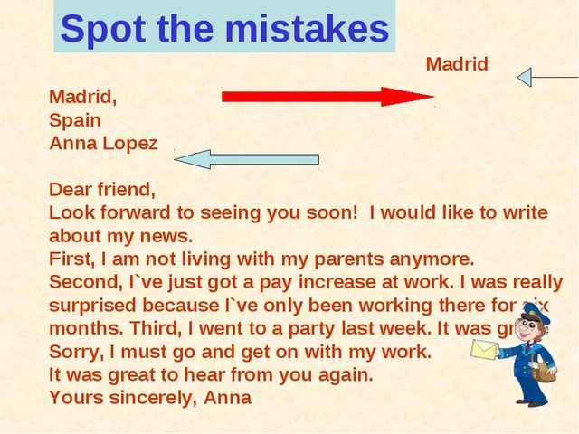 Madrid, Spain Anna Lopez Dear friend, Look forward to seeing you soon! I wou...