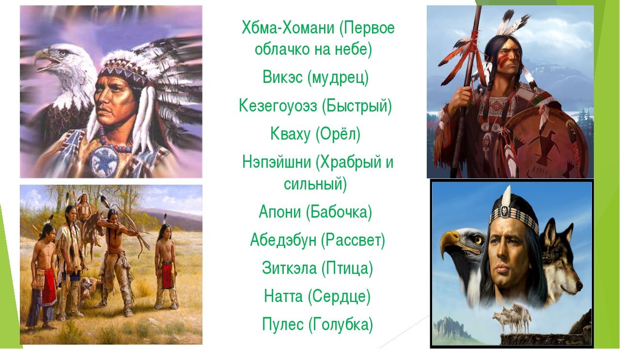 жжж Хбма-Хомани (Первое облачко на небе) Викэс (мудрец) Кезегоуоэз (Быстрый)...