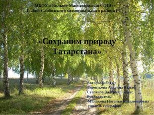 МБОУ « Больше-Машляковская СОШ» Рыбно-Слободского муниципального района РТ Ав