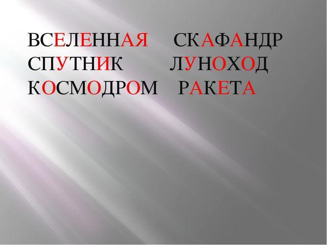 ВСЕЛЕННАЯ СКАФАНДР СПУТНИК ЛУНОХОД КОСМОДРОМ РАКЕТА