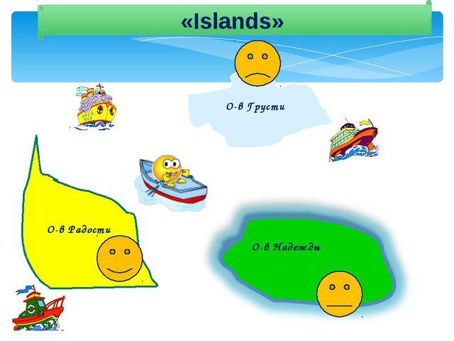 «Islands» О-в Надежды О-в Грусти О-в Радости
