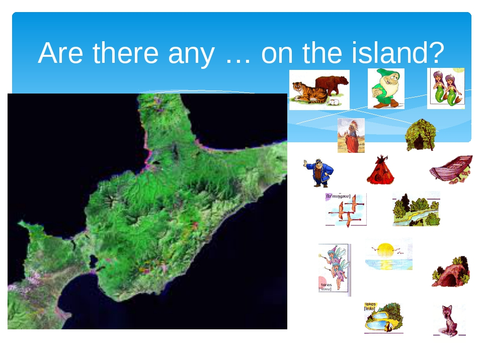 Are there any … on the island?