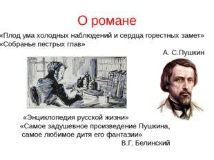 О романе «Энциклопедия русской жизни» «Самое задушевное произведение Пушкина,