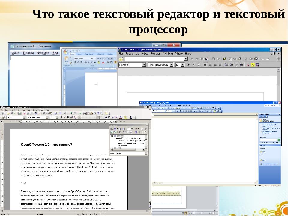 Что такое текстовый редактор и текстовый процессор