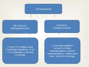 Тепловизорлар Бақылағыш (наблюдательные) Есептегіш (измерительные) Түрлі-түст