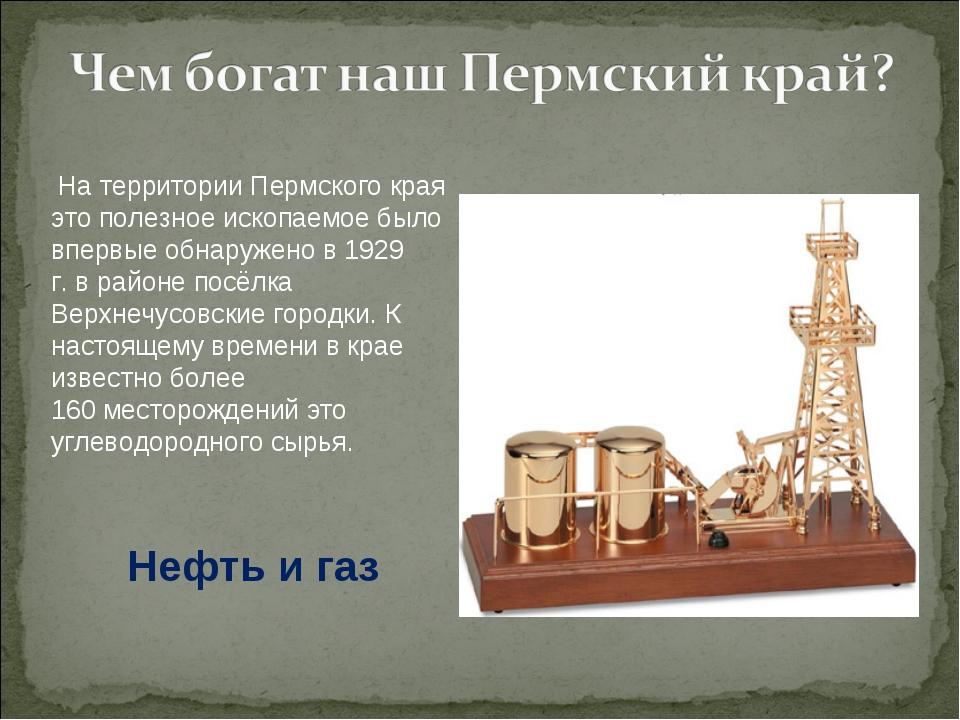 На территории Пермского края это полезное ископаемое было впервые обнаружено...