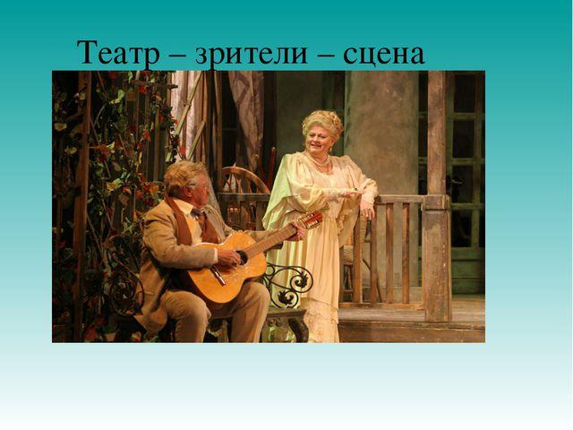 Театр – зрители – сцена