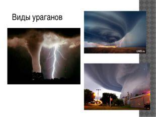 Виды ураганов