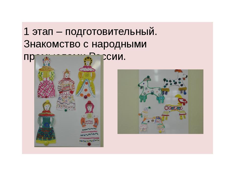 1 этап – подготовительный. Знакомство с народными промыслами России. FokinaLi...