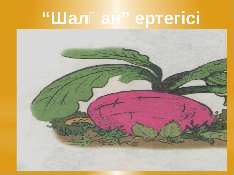 """""""Шалқан"""" ертегісі"""