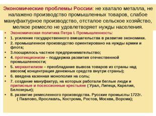 Экономические проблемы России: не хватало металла, не налажено производство п