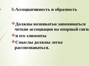 5-Ассоциативность и образность Должны возникатьи запоминаться четкие ассоциац