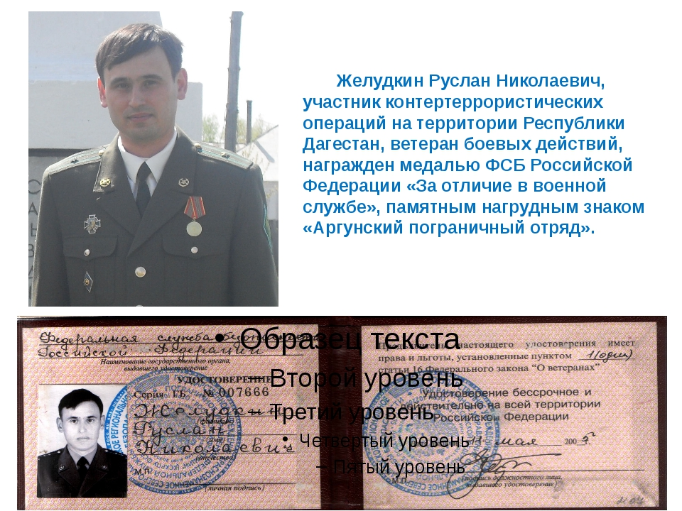 Желудкин Руслан Николаевич, участник контертеррористических операций на терр...