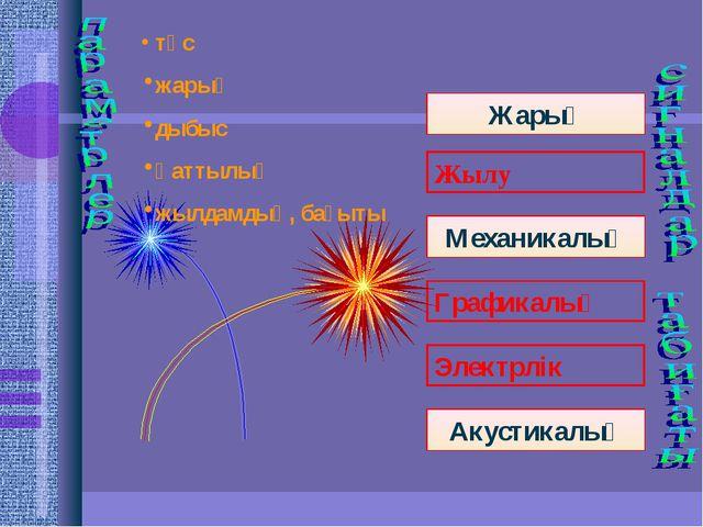 Жарық Механикалық түс жарық дыбыс қаттылық жылдамдық, бағыты Акустикалық