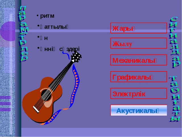 Акустикалық ритм қаттылық үн әннің сөздері
