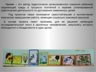 Проект – это метод педагогически организованного освоения ребенком окружаю