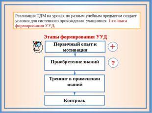 С−26 Реализация ТДМ на уроках по разным учебным предметам создает условия для