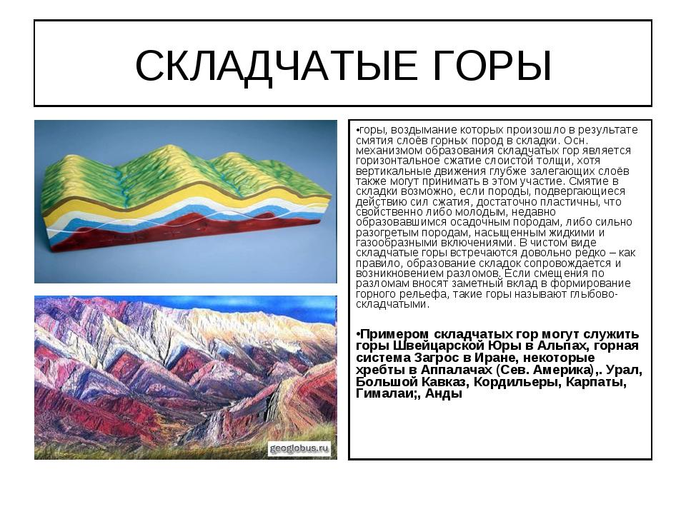 Схематический рисунок складчатых гор фото 916
