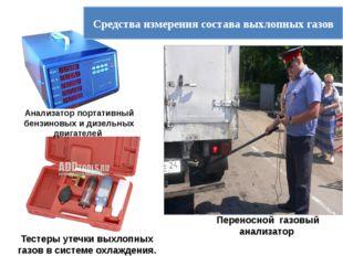 Анализатор портативный бензиновых и дизельных двигателей Средства измерения с